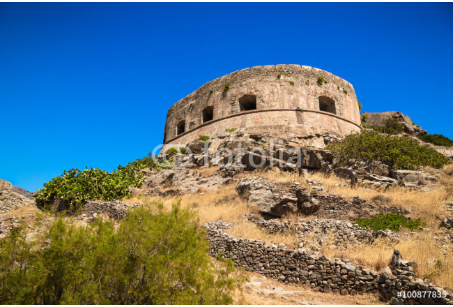 Scenic view of the venetian fortress on the island of Spinalonga 64239