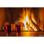 drinks at cozy fireplace 64239