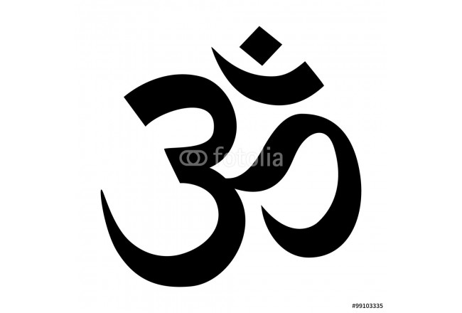 Om / Aum - symbol of Hinduism flat icon for apps and websites 64239