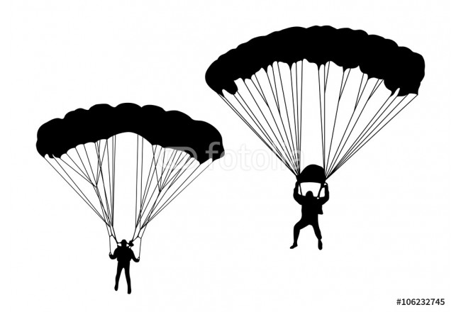 Skydivers. collection of vector illustrations 64239