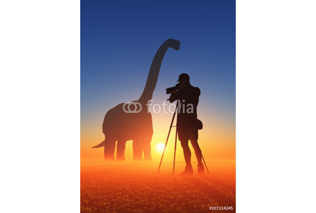 Art painting Photographer and dinosaur 64239