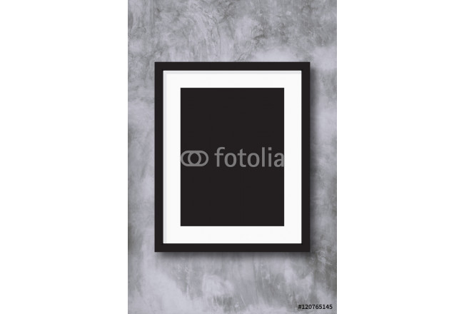 Black photo frame on concreate wall background. 64239
