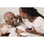 Couple hugging and drinking wine 64239