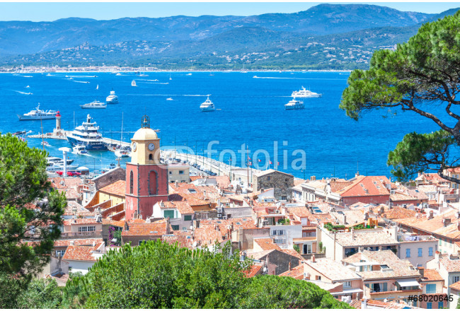 Panoramic view of the bay of Saint-Tropez, France 64239