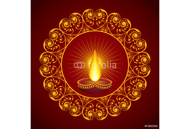 Creative Diwali greeting vector illustration 64239