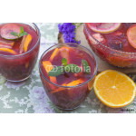Refreshing red sangria with orange juice and fruit 64239