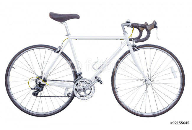 vintage white road bike isolated 64239