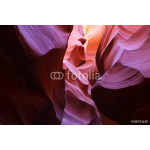 Antelope Canyon as seen in the early afternoon, resulting in deep purple colors, Page, Arizona, USA 64239