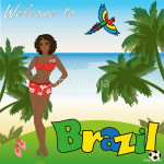 Welcome to Brazil, vector illustration 64239