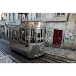 Old cable car in the street of Lisbon, Portugal 64239