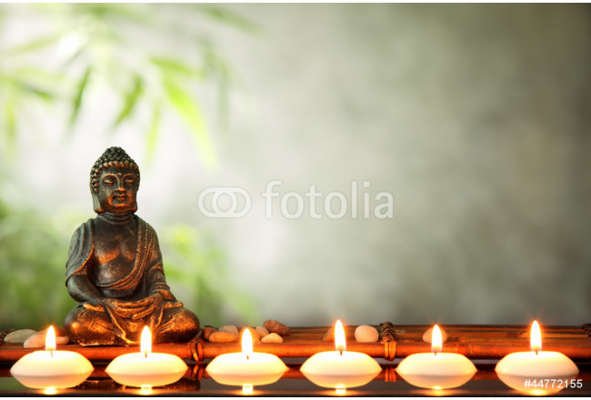 Buddha and candles 64239