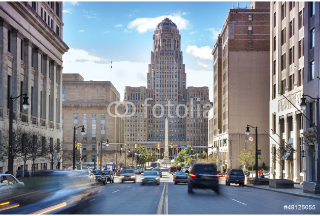 Painting Buffalo City Hall and its surrounding. 64239
