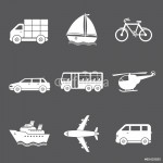 Vector transport icons 64239
