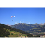 Paragliding over the village of Gstaad 64239