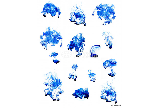 abstract blue fluid on white 64239