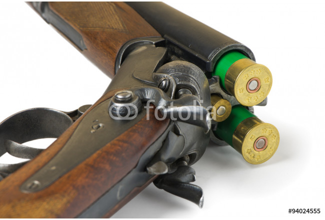 Quadro contemporaneo hunting rifle on a white background 64239