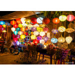 Colorful lanterns at the market street of Hoi An 64239