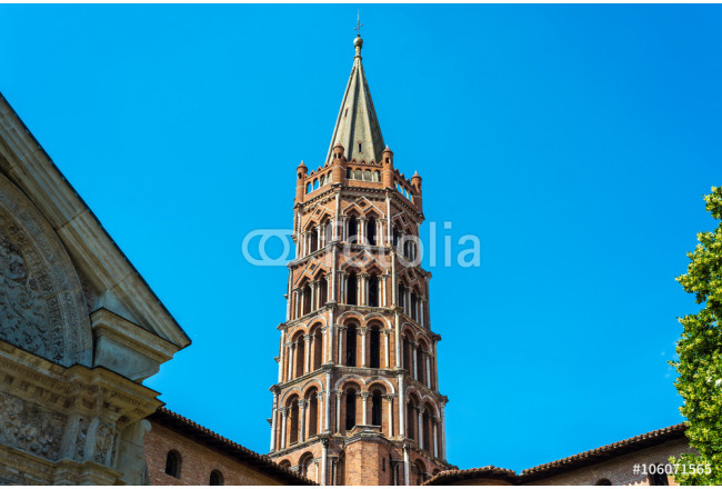 The Basilica of St. Sernin in Toulouse, France. 64239