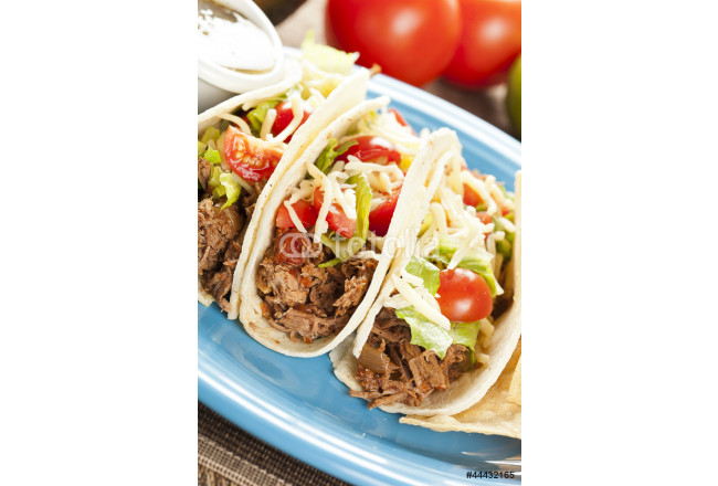 Fresh Homemade Shredded Beef Tacos 64239