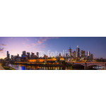 Melbourne cityscape panorama view in the twilight time of the day, Australia. 64239