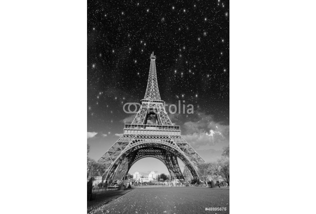Dramatic view of Eiffel Tower with Sky on Background 64239