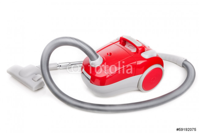 Painting Vacuum cleaner for modern house cleaning. On a white background. 64239