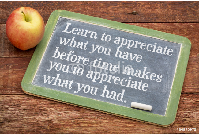 Learn to appreciate what you have 64239