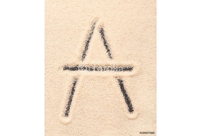 A letter written on sand 64239