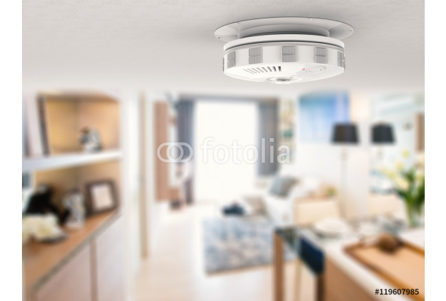 smoke detector on ceiling 64239