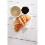 fresh baked croissant with coffee 64239