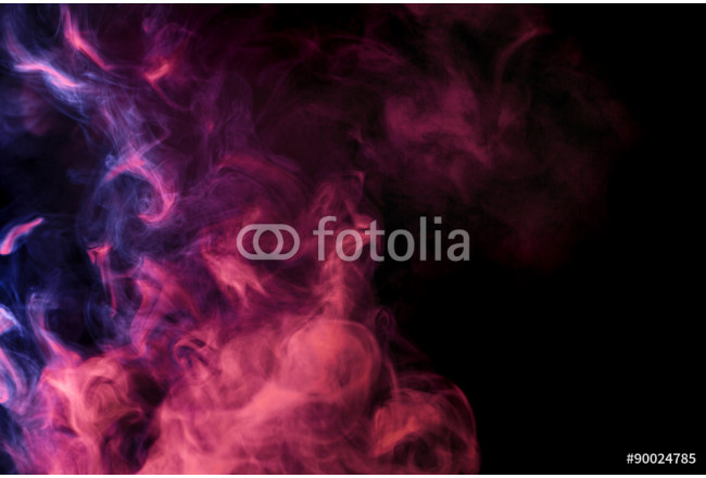 Abstract colored smoke hookah on a black background. 64239