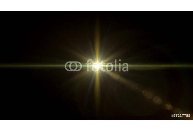 Quadro contemporaneo twinkle glow star lens flare center 64239