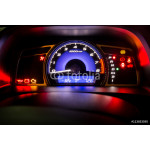 Modern car instrument dashboard panel full symbol in night time 64239