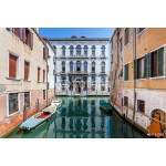 Boats on the canal and historic buildings - Venice, Italy 64239