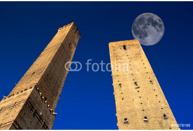 Full Moon over Bologna Towers 64239