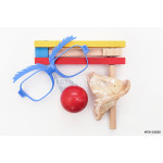 Purim arrangement - Hamantashen, Gragger,glasses and a red nose 64239