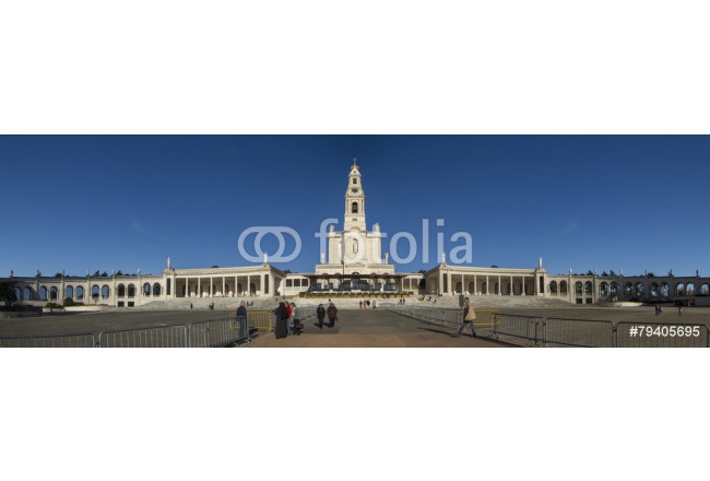 View of the famous holy plaza of Fatima, Portugal. 64239