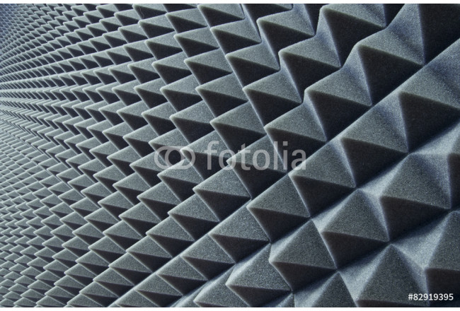 Close up of sound proof coverage in music studio 64239