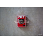 fire alarm switch on the wall 64239