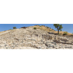 Panorama of Choirokoitia (Khirokitia ) Neolithic Settlement of 7-4-th millennium B.C. with age indicatind tables. World Heritage Site by UNESCO. Cyprus. 64239