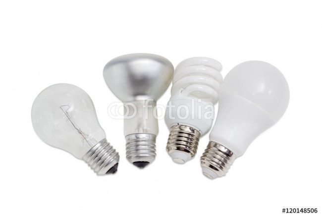 Obraz nowoczesny Various electric lamps of different types of electric lighting 64239
