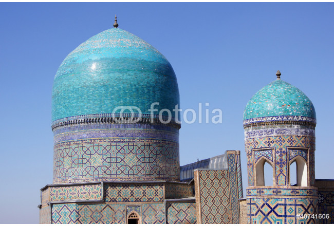 Domes of mosque in Samarkand, Uzbekistan 64239