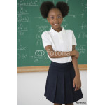 African American girl in front of blackboard 64239