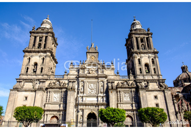 Front view of Cathedral Metropolitana in Mexico city 64239