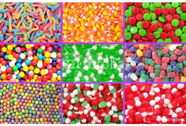 colorful neon gummy candies 64239