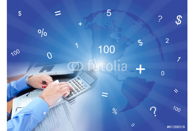 Businessman and calculator 64239
