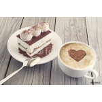 Coffee and cake as a morning meal. Tasty food background 64239