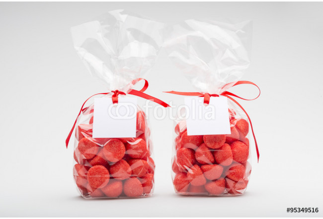 Two elegant plastic bags of strawberry for gift 64239