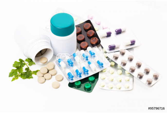 Samples of medicines, tablets, capsules 64239