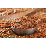 Brown flax seeds background 64239